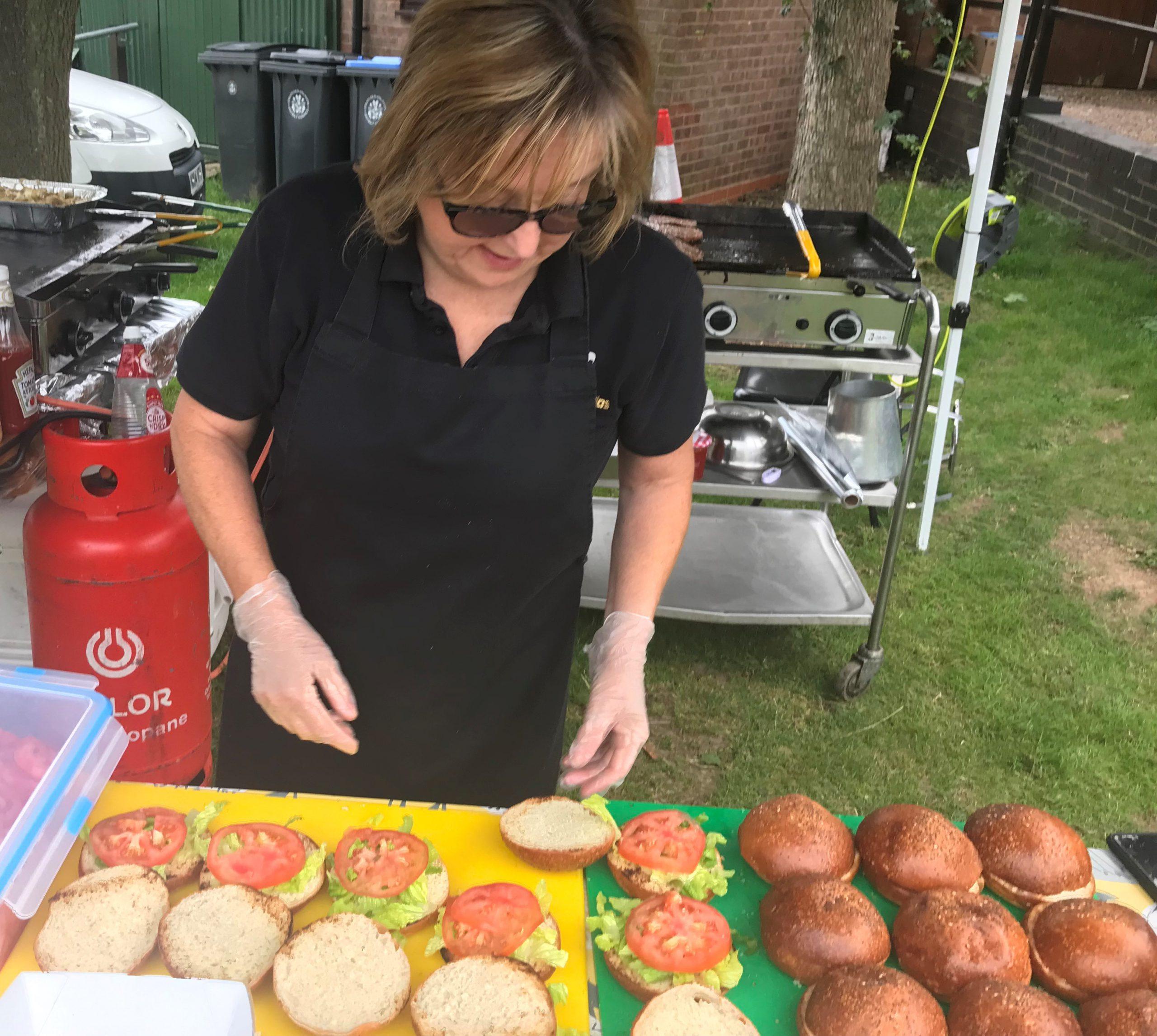 Gourmet Gorillas preparing at Wixford